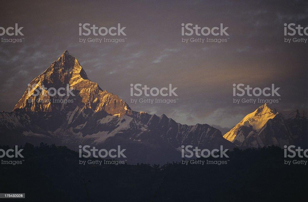 mount Machhapuchhre royalty-free stock photo