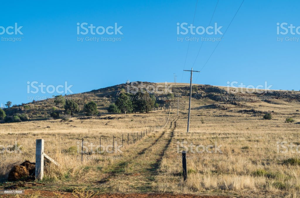 Mount Major at Dookie near Shepparton, Australia 免版稅 stock photo