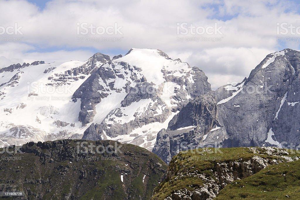Mount Marmolada in Italian Dolomites royalty-free stock photo