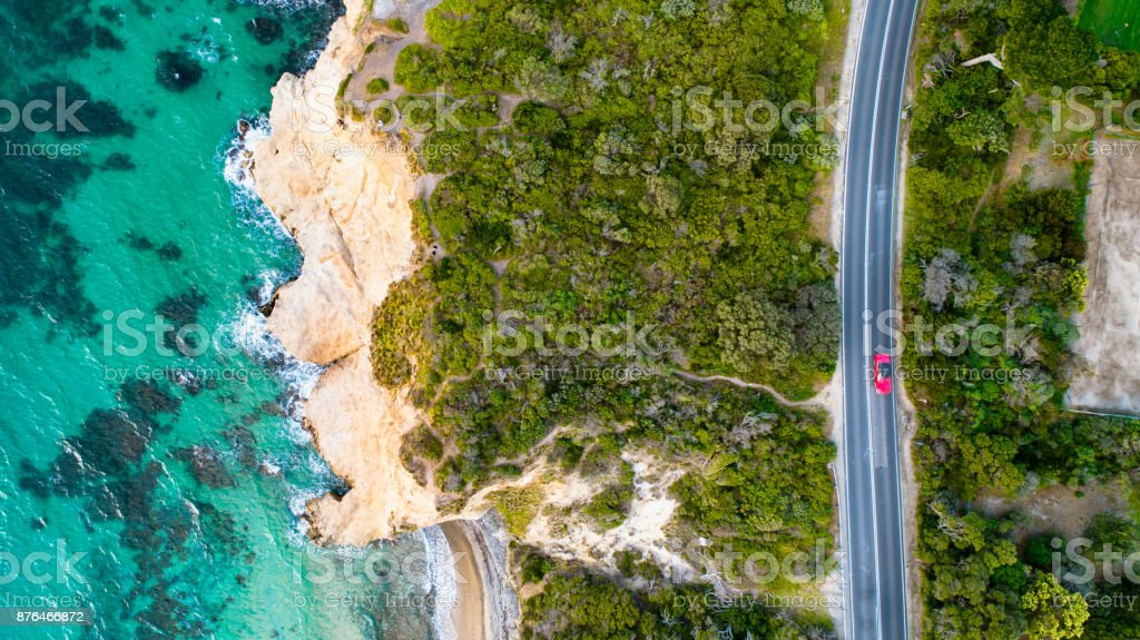 Mount Martha Winding Road stock photo
