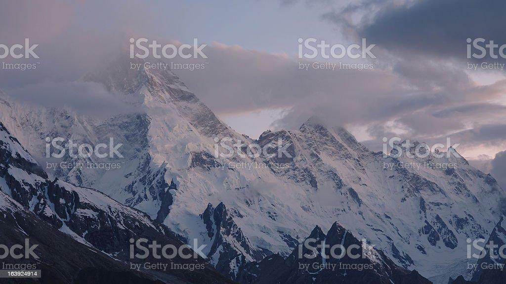 Mount Masherbrum (K1), Karakorum, Pakistan royalty-free stock photo
