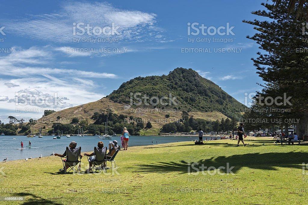 Mount Maunganui, Tauranga New Zealand royalty-free stock photo