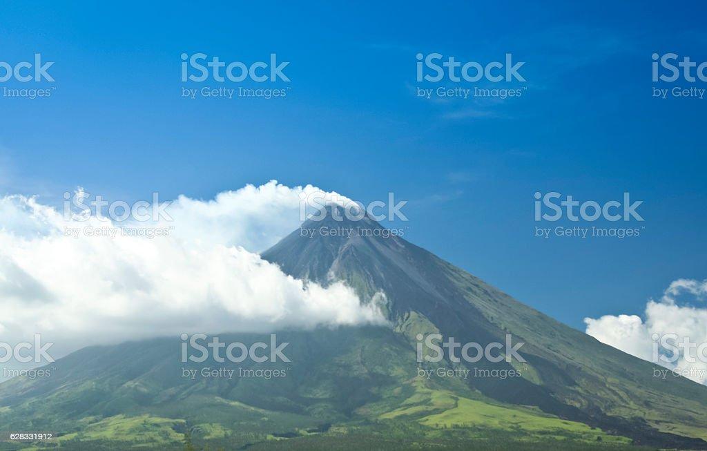 mount mayon active volcano philippines stock photo