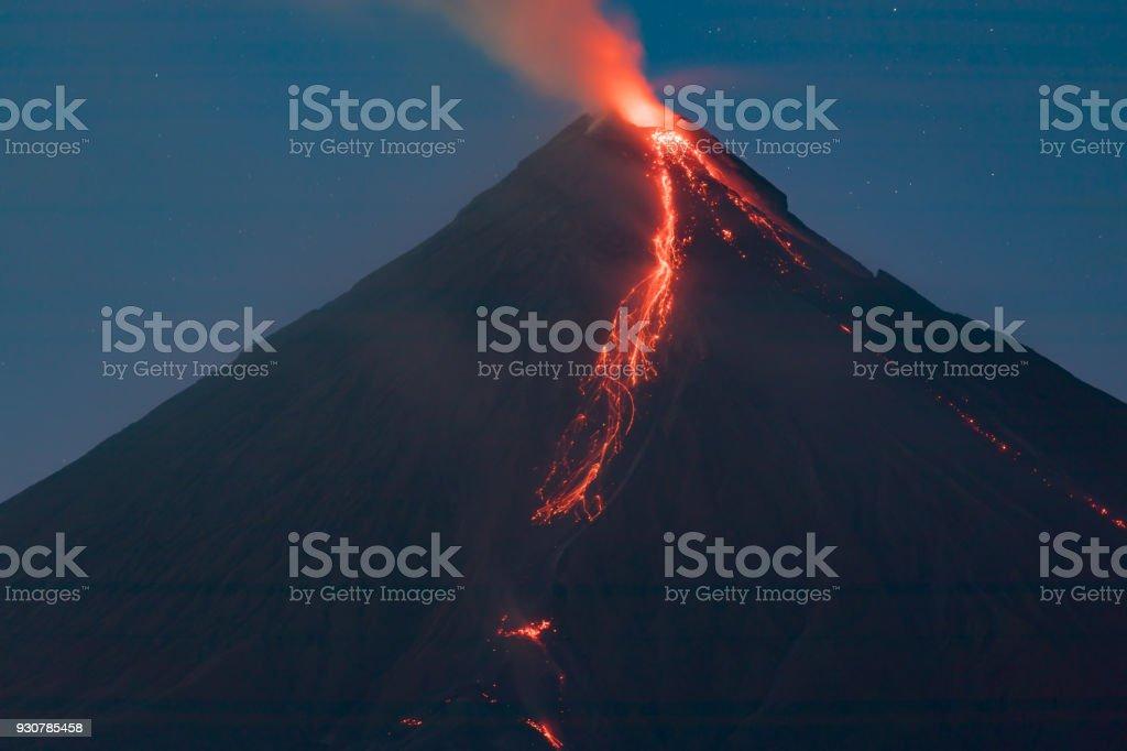 Mount Mayon, Albay, Philippines stock photo