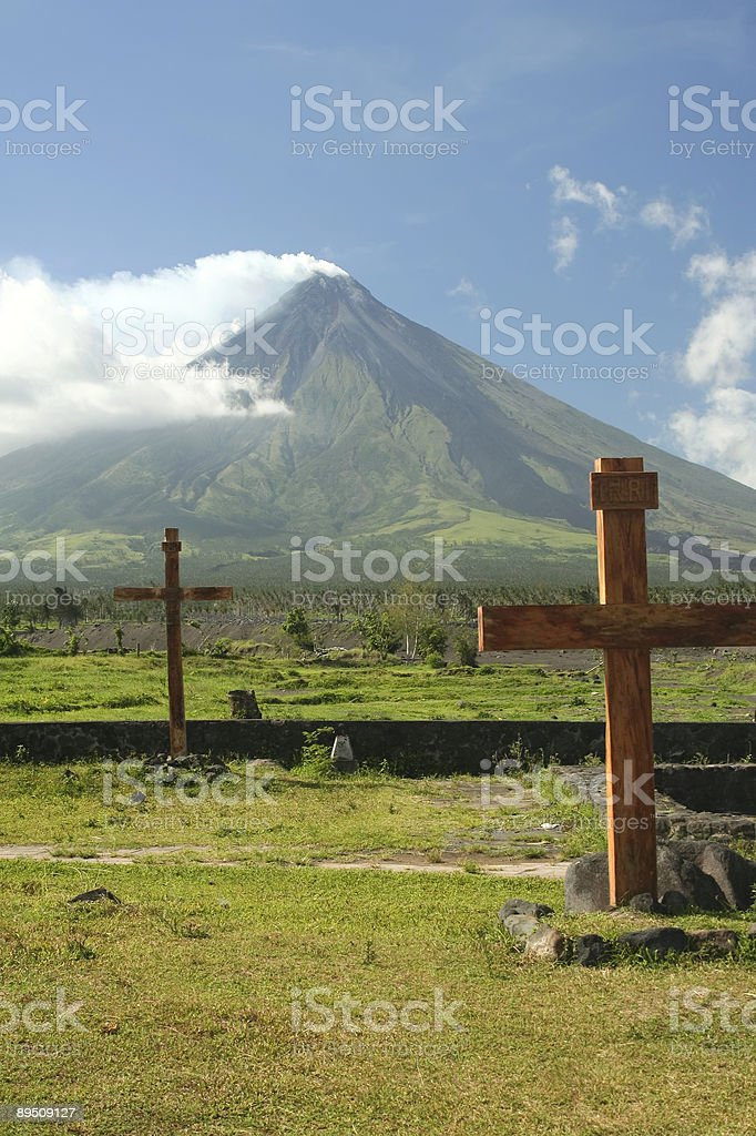 mount mayon volcano philippines royalty-free stock photo