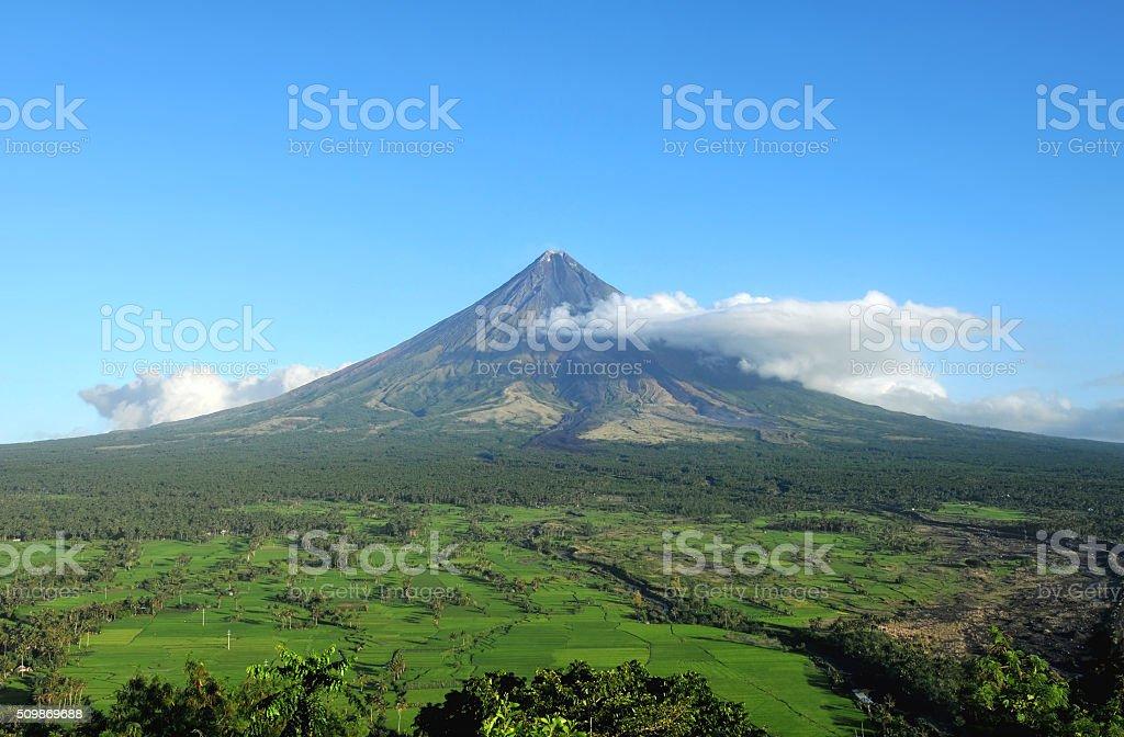 Mount Mayon Volcano stock photo