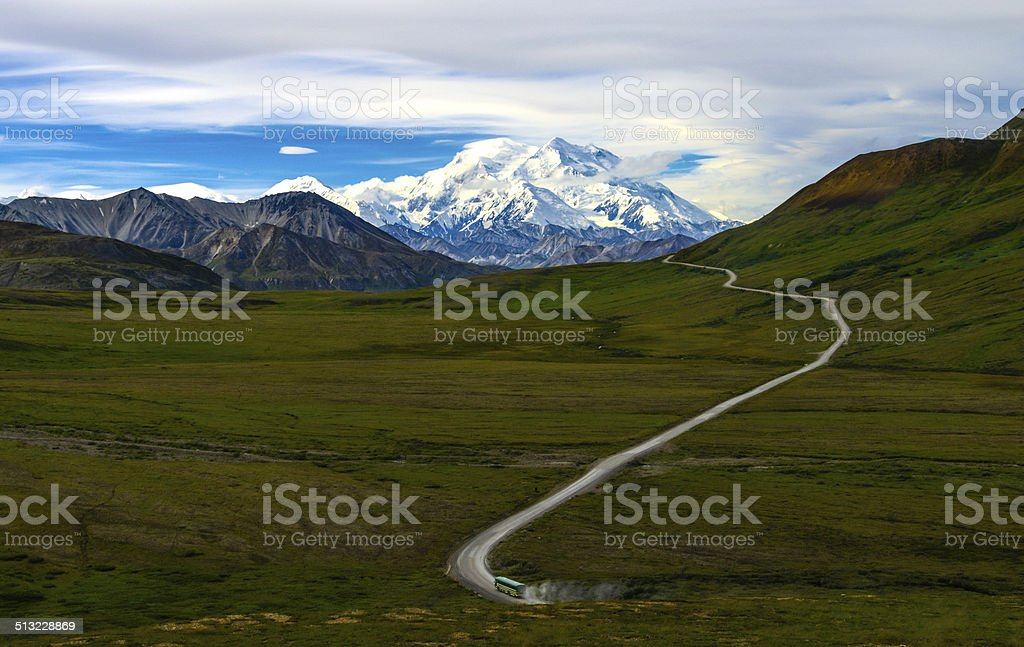 Mount McKinley, Denali National Park, Alaska stock photo