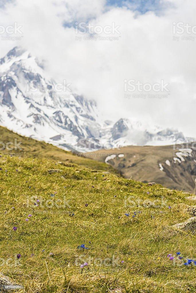 Mount Mestia royalty-free stock photo