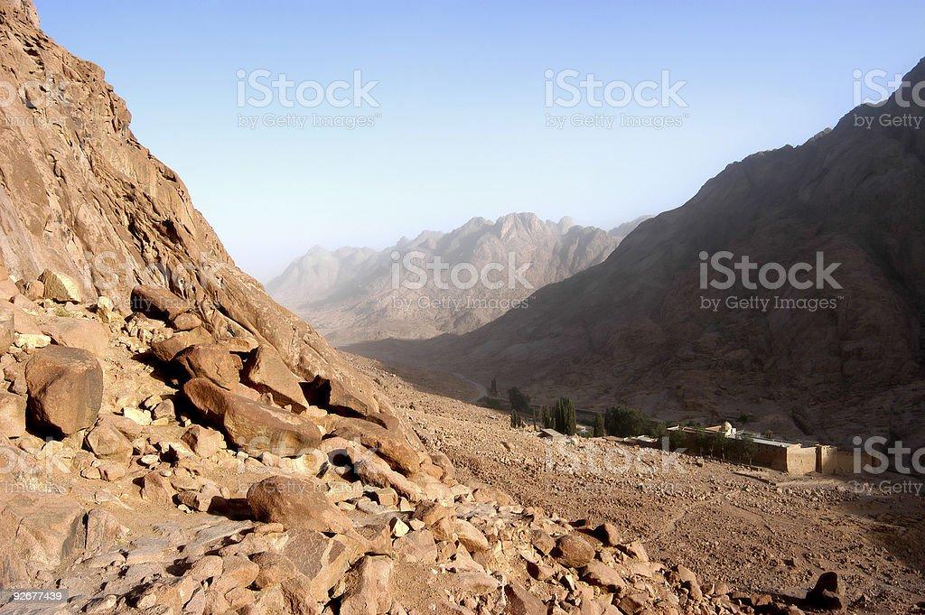 Mount Moses, Sinai royalty-free stock photo