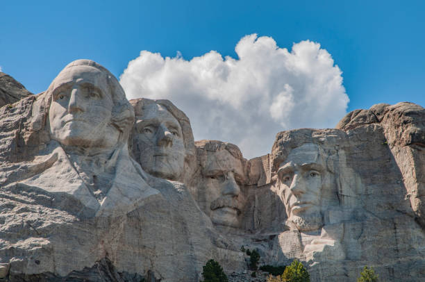 Mount MT Rushmore onder de blauwe hemel foto
