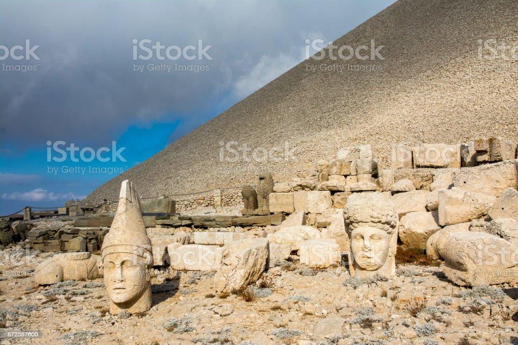 Mount Nemrut in Turkey stock photo