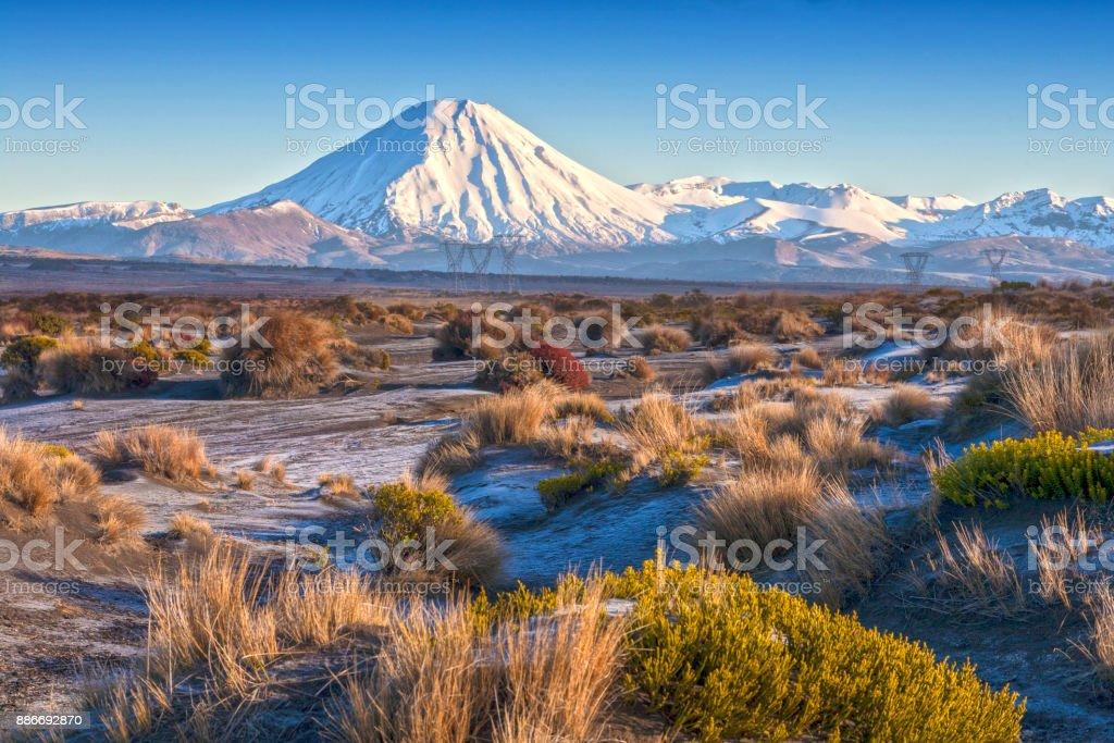 Mount Ngauruhoe New Zealand stock photo