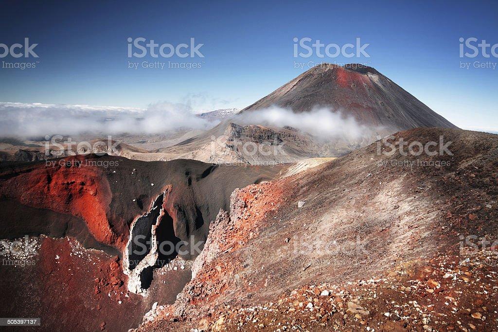 Mount Ngauruhoe (a.k.a. Mt. Doom), North Island, New Zealand stock photo
