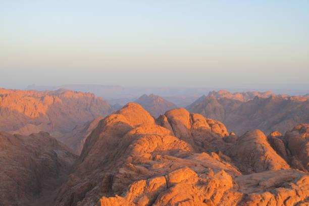 Mount of Moses at sunrise, Sinai, Egypt – zdjęcie