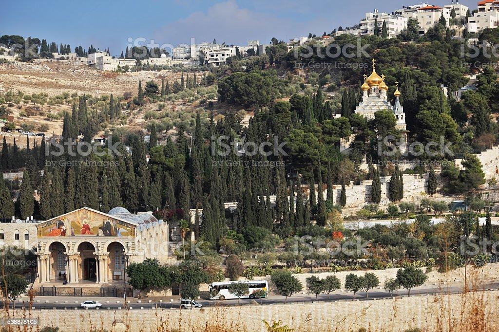 Mount of Olives in East Jerusalem stock photo