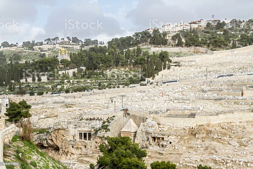 Mount of Olives in Jerusalem . stock photo