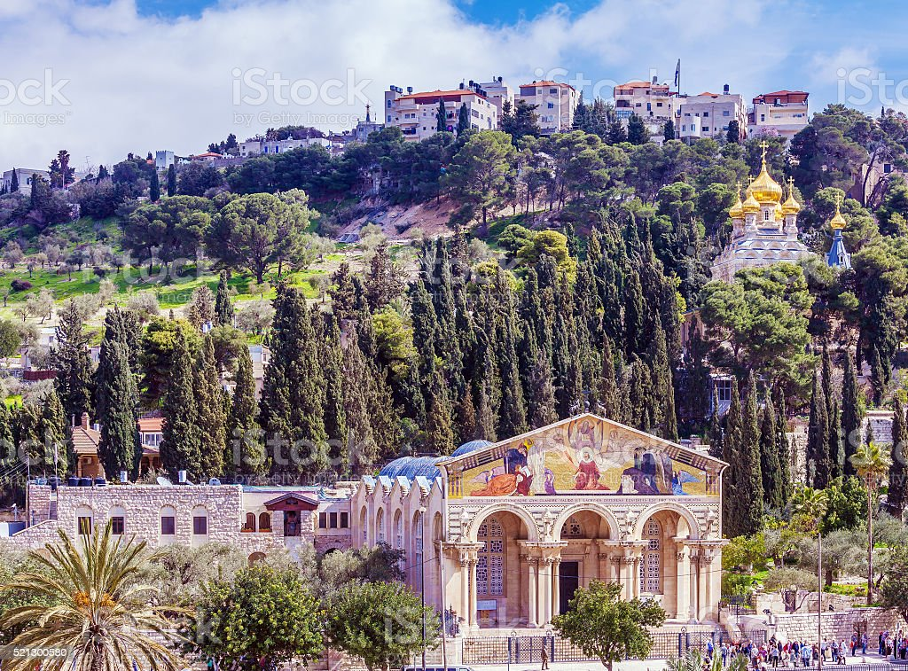 Mount of Olives, Jerusalem stock photo