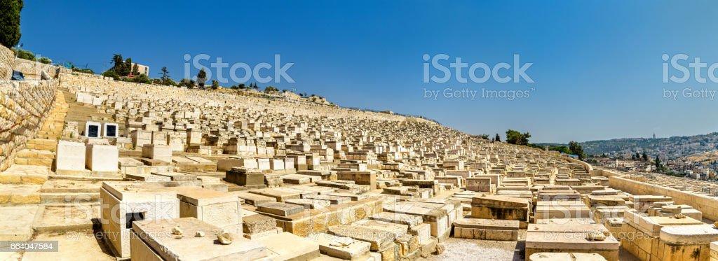 Mount of Olives Jewish Cemetery - Jerusalem stock photo