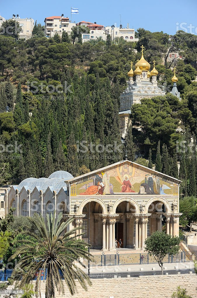 Mount of Olives, view from the Jerusalem walls. stock photo