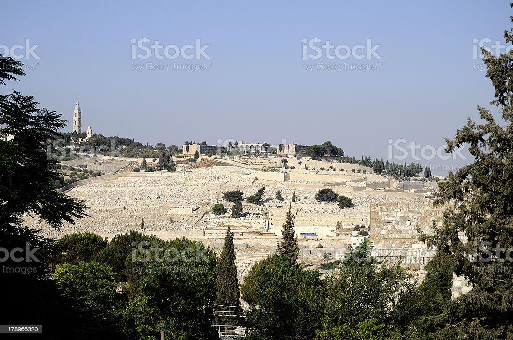 Mount of Olives,Jerusalem,Israel stock photo