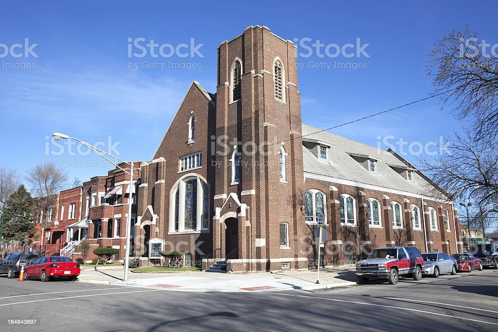 Mount Olive Baptist Church in West Englewood, Chicago royalty-free stock photo