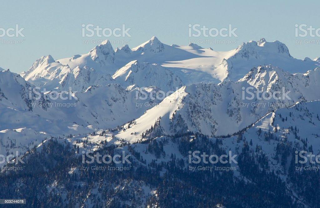 Mount Olympus im Winter Snow – Foto
