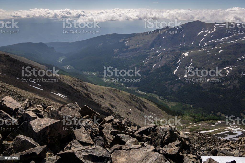 Mount Oxford Summit stock photo