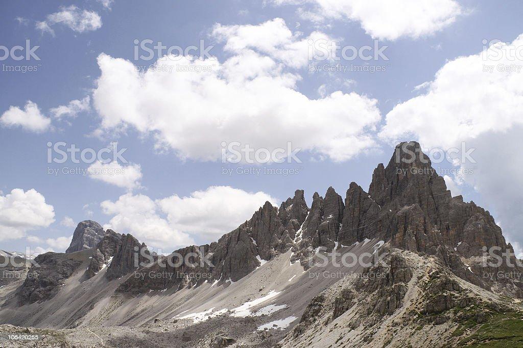 Mount Paterno cliffs stock photo