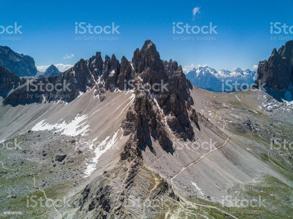 Mount Paterno, Dolomites, Italy stock photo