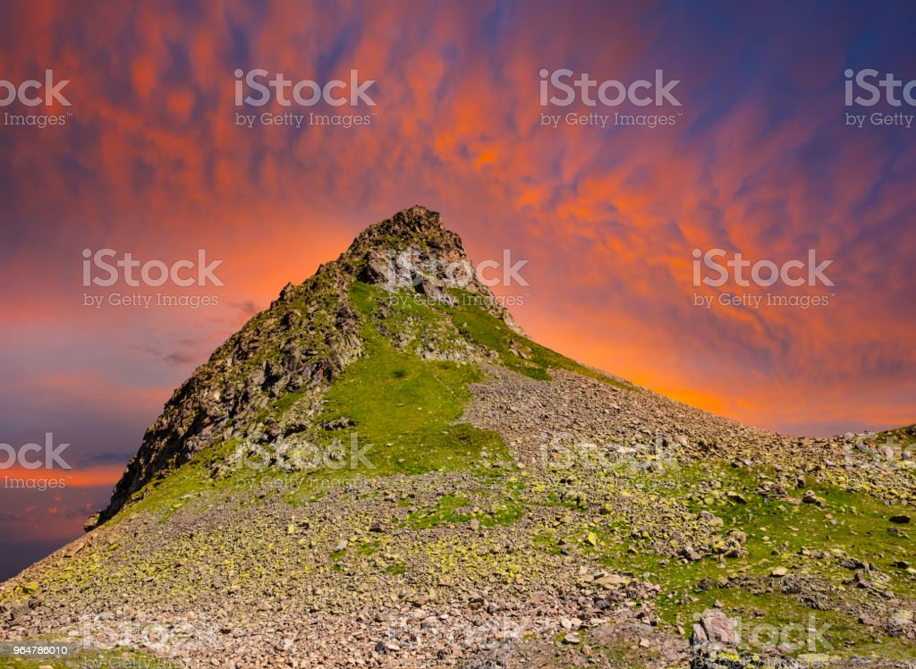 mount peak on a sunset background royalty-free stock photo