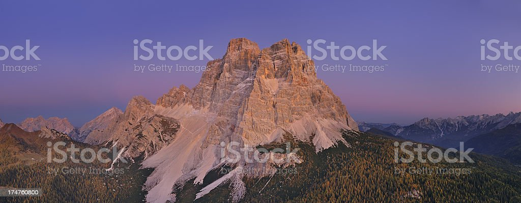 Mount Pelmo at Twilight (Dolomites - Italy) royalty-free stock photo