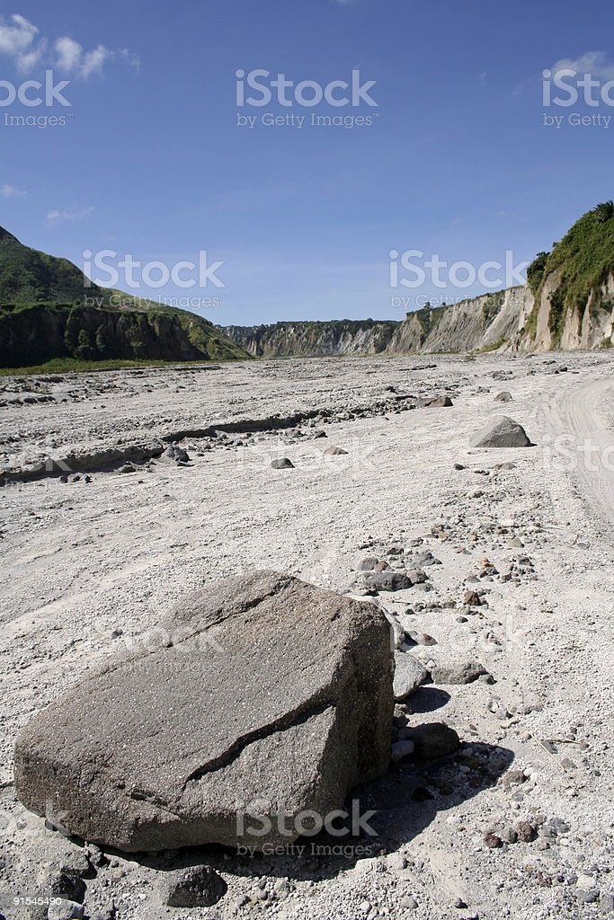 mount pinatubo valley pampanga philippines royalty-free stock photo