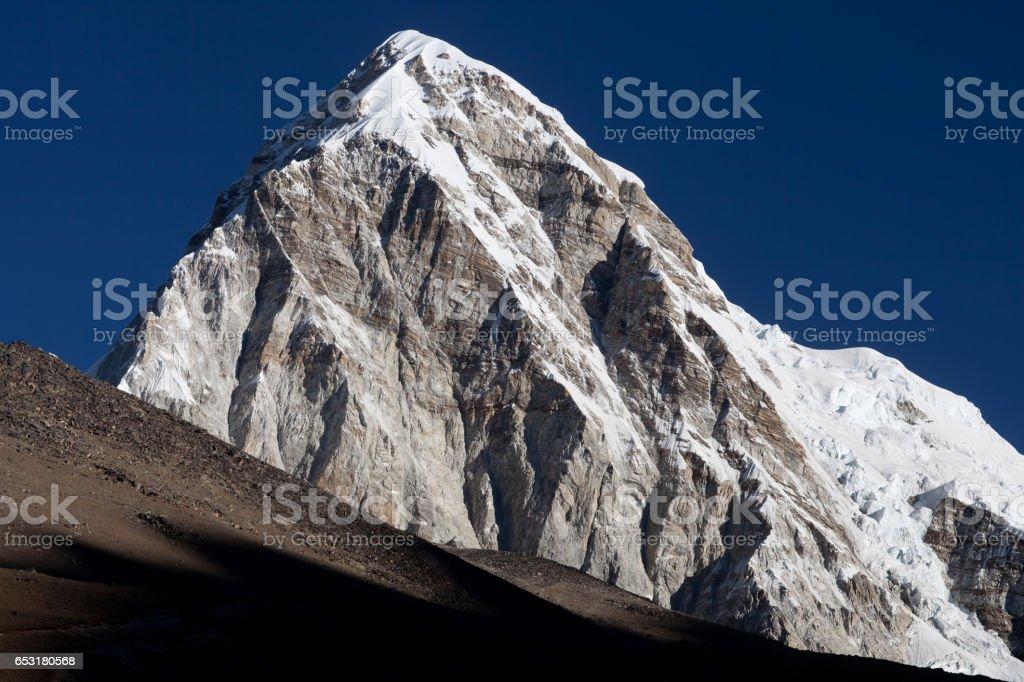 Mount Pumori in the Nepal Himalaya stock photo