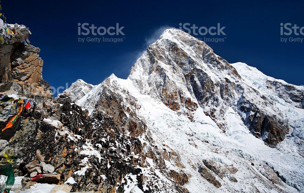 Mount Pumori, Nepal stock photo