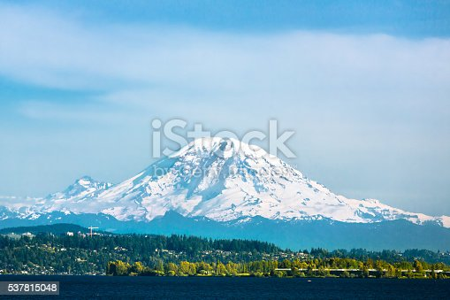Mount Rainier and Lake Washington