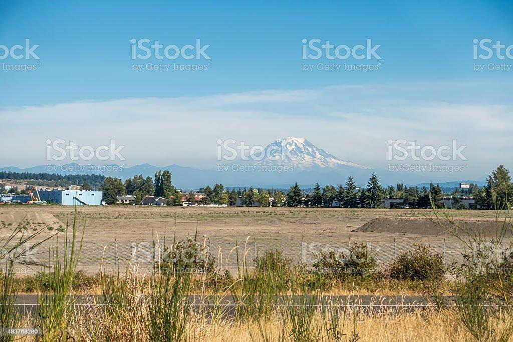Mount Rainier From Tacoma 2 stock photo