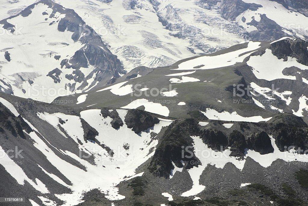 Mount Rainier Glacier Valley Ice Snow stock photo