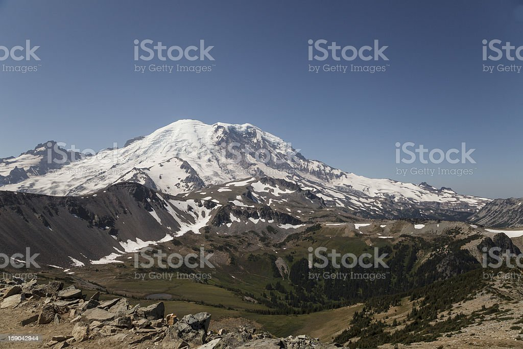 Mount Rainier northern face royalty-free stock photo