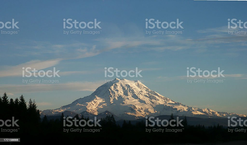 Mount Rainier Panorama royalty-free stock photo