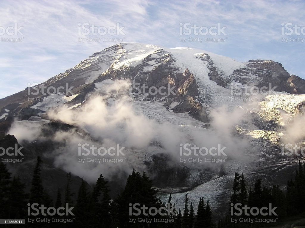 Mount Rainier royalty-free stock photo