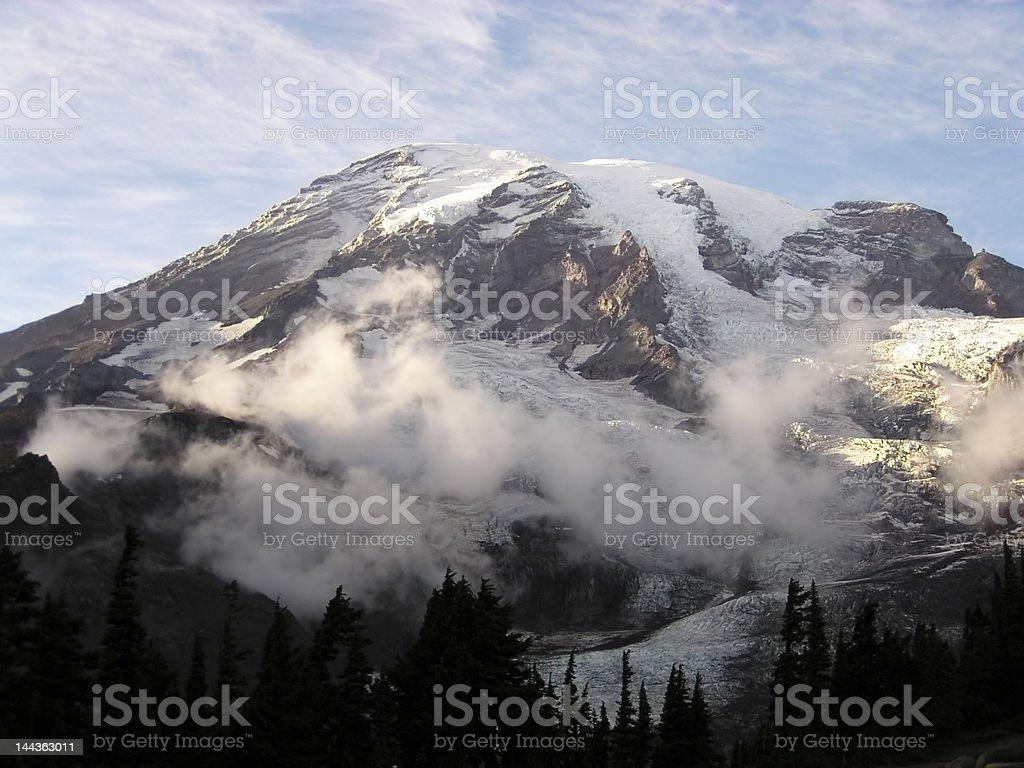 Mount Rainier stock photo