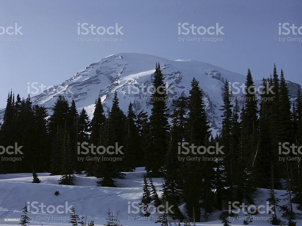 Mount Rainier stock photo