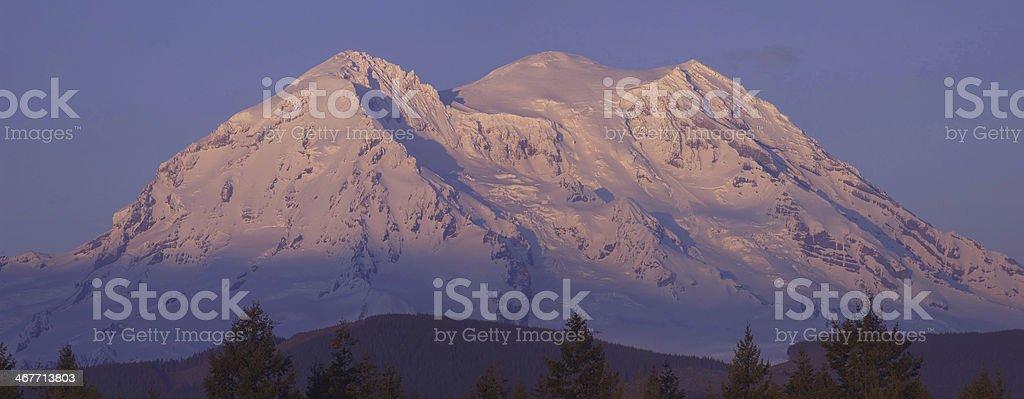 Mount Rainier Summit stock photo