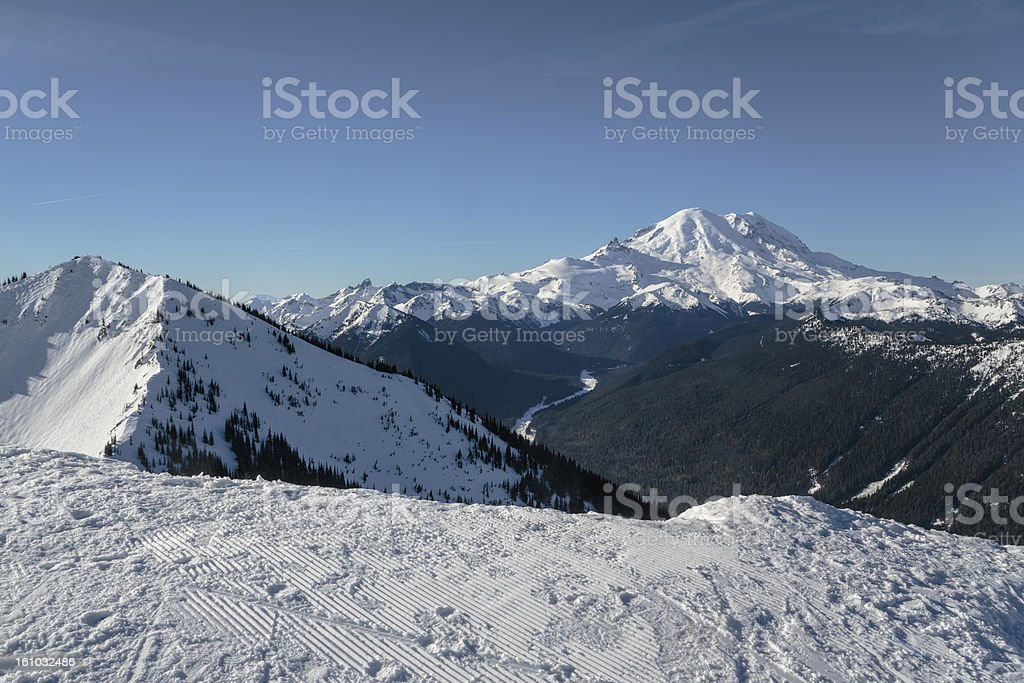 Mount Rainier Sunrise side royalty-free stock photo