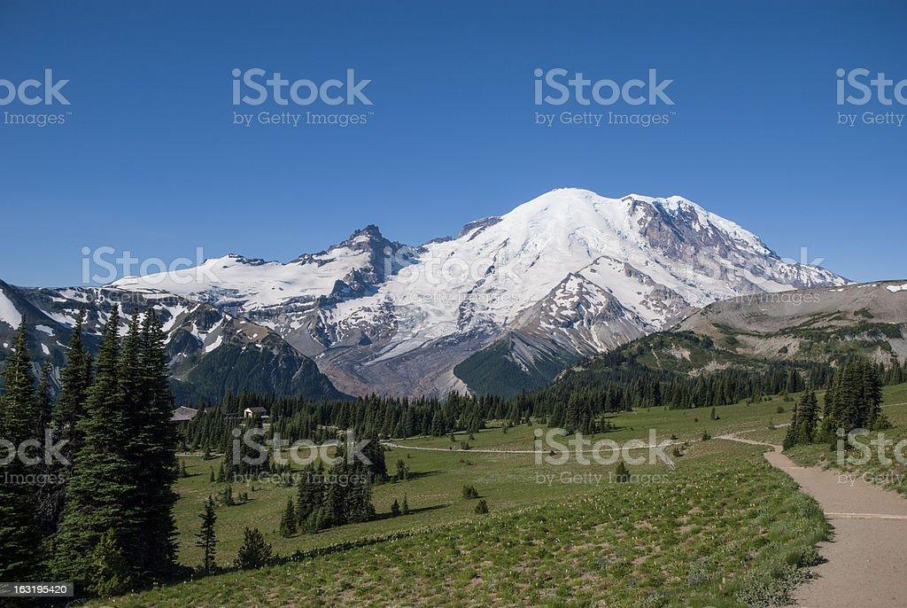 Mount Rainier Sunrise side royalty-free stock photo