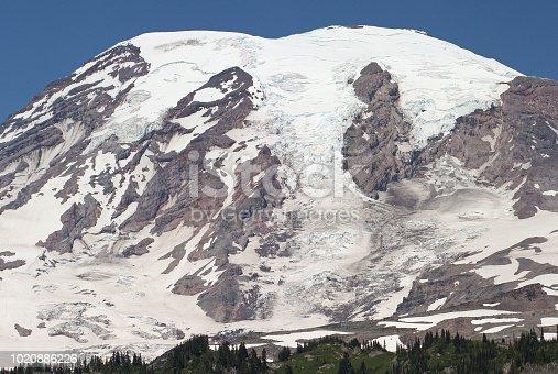 Mountain, Layer Volcano, Glacier, National Park, Mount Rainier National Park, Northern Cascade Range, Nature Experience, Mountaineering
