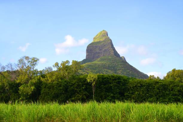 Mount Rempart in Mauritius island. Indian Ocean. stock photo
