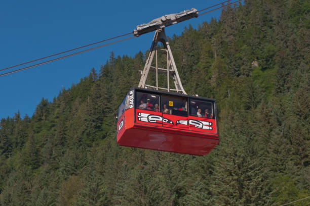 mount roberts tramway - alaska us state stock photos and pictures