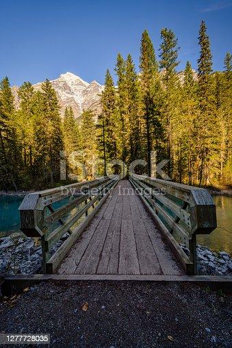 istock Mount Robson and Whitehorn Mountain, Kinney Lake,Jasper Alberta Kanada 1277728035
