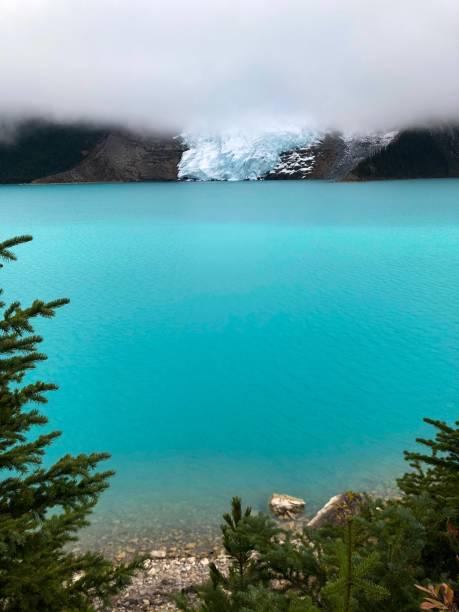Mount Robson glacier stock photo